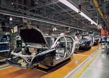 Linha de produção do carro imagens de stock
