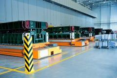 Linha de produção da oficina do forjamento do sedan Fotografia de Stock