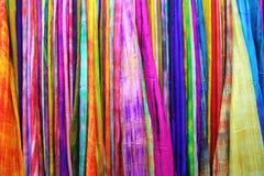 Linha de seda crua colorida Fotos de Stock