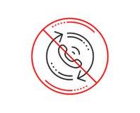 Linha de serviço ícone do centro de atendimento Sinal do apoio do aviso Vetor ilustração royalty free