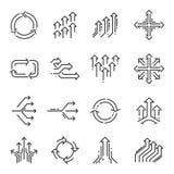 Linha de transição grupo do ícone ilustração stock