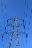 Linha de transmissão da eletricidade Fotografia de Stock