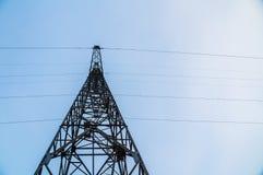 Linha de transmissão da eletricidade Fotos de Stock