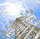 Linha de transmissão de energia Fotos de Stock