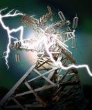 Linha de transmissão de energia Fotografia de Stock Royalty Free