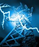 Linha de transmissão de energia Fotos de Stock Royalty Free