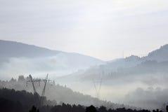 Linha de transmissão de energia Foto de Stock Royalty Free