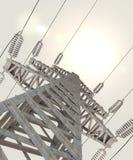Linha de transmissão de energia. 3d Foto de Stock Royalty Free