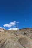 Linha de transmissão nos Himalayas Imagem de Stock