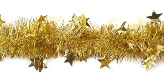 Linha de uma festão do ouropel isolada fotografia de stock