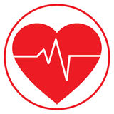 Linha de vida dentro de uma forma do coração Imagem de Stock Royalty Free