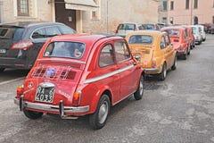 Linha de vintage Fiat 500 Imagem de Stock Royalty Free