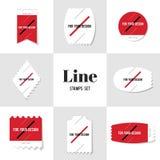 Linha diagonal da coleção para seu selo postal do projeto Fotografia de Stock