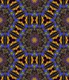 Linha digital abstrata teste padrão floral da arte Fotos de Stock Royalty Free