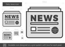 Linha diária ícone da notícia Fotos de Stock