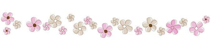 Linha/divisor das flores Fotos de Stock Royalty Free