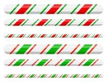 Linha divisor do bastão de doces da beira para o projeto do Natal sobre ilustração do vetor