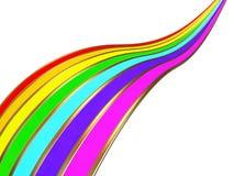 Linha do arco-íris Ilustração do Vetor