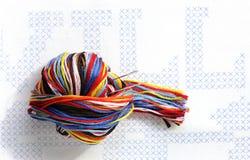 Linha do bordado Imagens de Stock