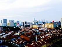 Linha do céu de Singapura vista de pouca Índia em Singapura Fotografia de Stock