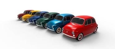 Linha do carro de Fiat 500 Imagens de Stock Royalty Free