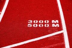 Linha do começo da raça de distância foto de stock