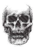 Linha do crânio preto e branco ilustração stock