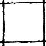 Linha do desenho de carvão vegetal de backgroun do branco da estrutura Imagem de Stock Royalty Free