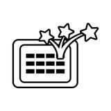 linha do dia dos enganados do calendário ilustração do vetor