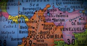 Linha do equador em países de Ámérica do Sul video estoque