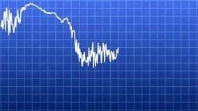Linha do gráfico de negócio ilustração stock