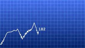 Linha do gráfico de negócio ilustração do vetor