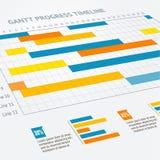 Linha do progresso de Gantt Vetor ilustração do vetor