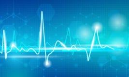 Linha do pulso no azul Imagens de Stock