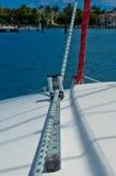 Linha do Sailboat Imagem de Stock Royalty Free