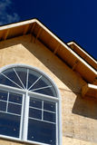 Linha do telhado da casa foto de stock