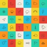 A linha do tempo dilui ícones Imagens de Stock Royalty Free