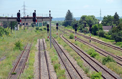 Linha do tráfego do trem Fotografia de Stock Royalty Free