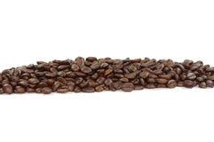 Linha dos feijões de café Fotografia de Stock