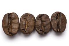 Linha dos feijões de café foto de stock royalty free