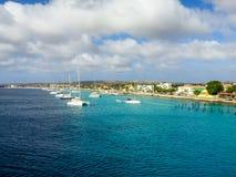 Linha dos veleiros de costa para baixo de Belize Foto de Stock Royalty Free