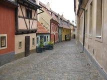 Linha dourada, Praga Fotos de Stock Royalty Free