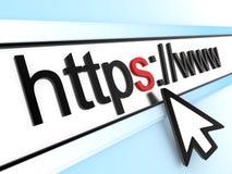 Linha e cursor de Https Foto de Stock