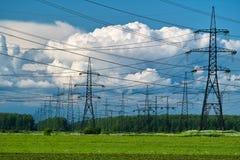 Linha eléctrica Imagens de Stock Royalty Free