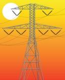 Linha eléctrica Imagem de Stock Royalty Free