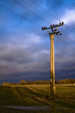 Linha eléctrica Fotos de Stock Royalty Free
