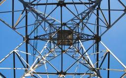 Linha eléctrica abaixo da vista Foto de Stock Royalty Free
