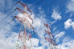 Linha eléctrica de alta tensão Imagens de Stock Royalty Free