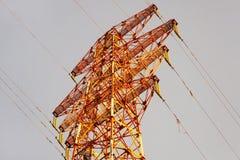 Linha eléctrica de alta tensão Fotos de Stock
