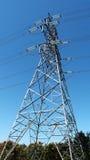Linha eléctrica de alta tensão industrial Fotografia de Stock Royalty Free